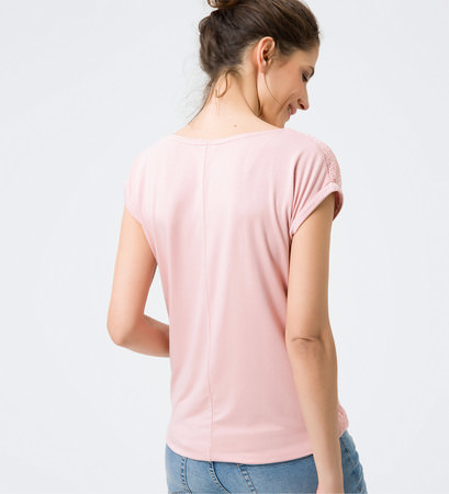 Shirt mit Spitzendesign in dusty pink