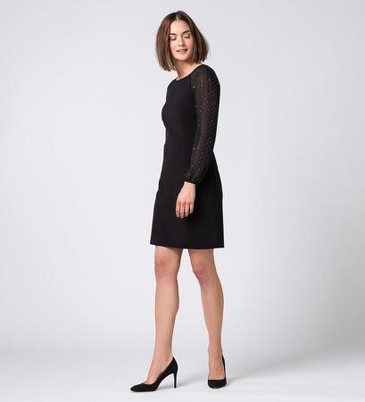 Kleid mit Raglanärmeln in black