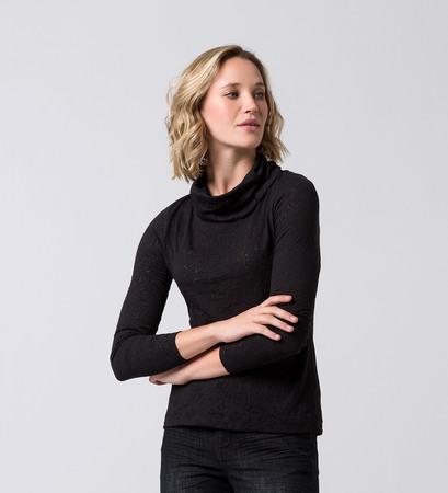 T-Shirt mit Allovermuster in black