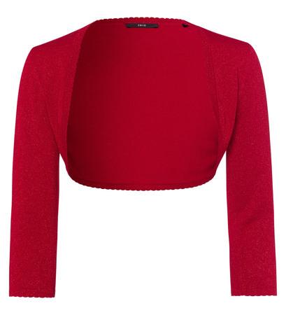 Bolero im Glitzer-Look in tango red