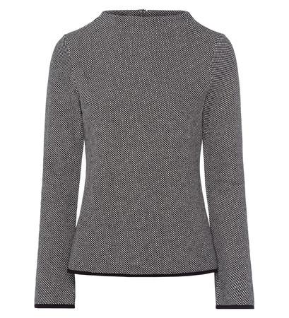 jersey sweater mit turtleneck