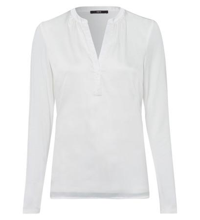 Bluse mit Serafino-Ausschnitt in offwhite