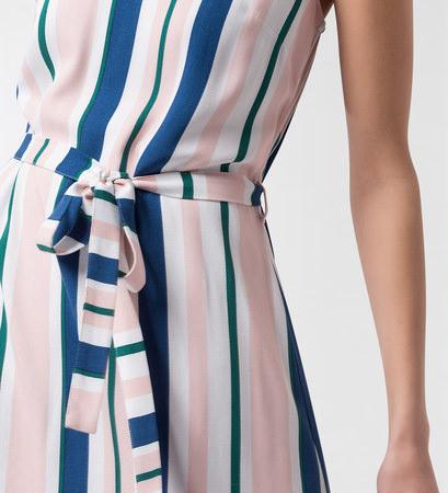 Kleid mit Streifenprint in soft rose