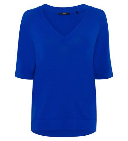 Pullover mit kurzen Ärmeln in cobalt blue