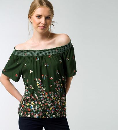 Bluse mit floralem Muster in cypress olive
