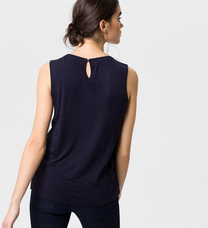 Top mit Zierfalten in blue black