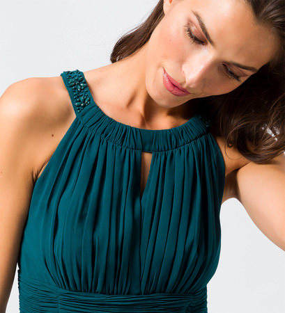Kleid im eleganten Look in dark teal