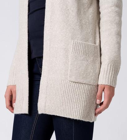 Strickjacke mit aufgesetzten Taschen in dove grey-m
