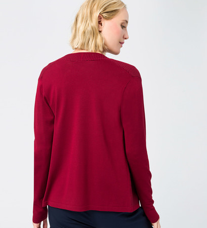 Cardigan im verschlusslosen Design in wine red