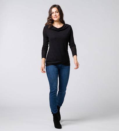 Pullover im Lagen-Look in black
