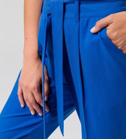 Hose mit Bindeband in cobalt blue