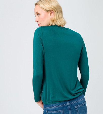 Shirt mit bedruckter, transparenter Front in deep ivy