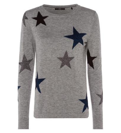 Pullover mit Sternen in silver grey