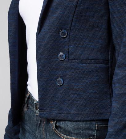 Blazer in Strukturoptik in blue black