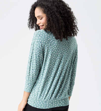 Shirt in weicher Jerseyqualität in dusk jade