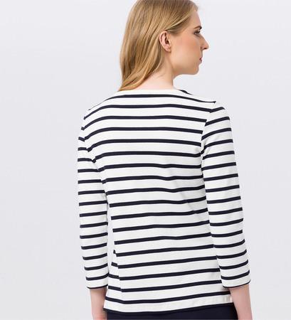 Sweatshirt mit Streifen in offwhite