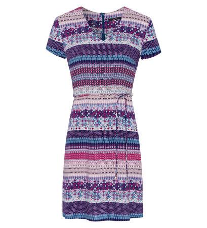 Kleid mit Alloverprint in pacific blue