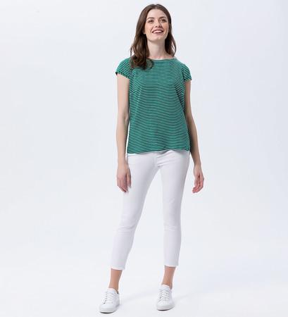 Bluse mit Streifenmuster in green