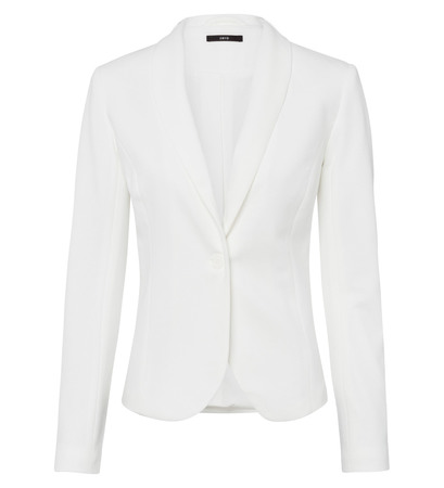 Blazer mit Schalkragen in soft white