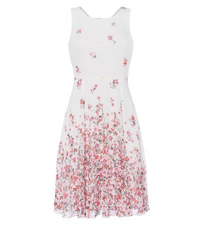 Kleid mit Blumenmuster in offwhite