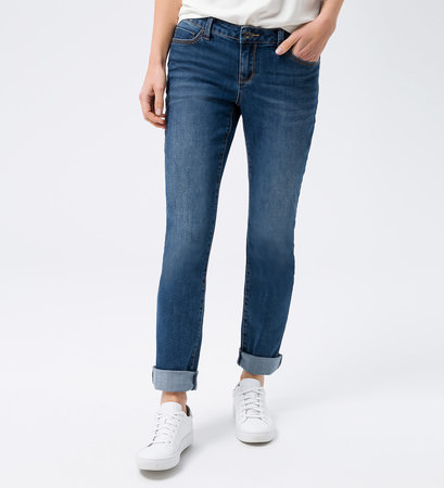 Jeans in Slim fit 32 Inch in mid blue authentic wash out