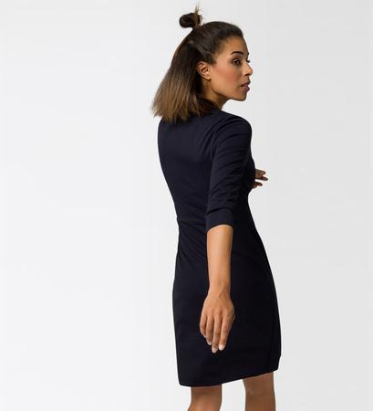 Kleid im Wickel-Look in blue black