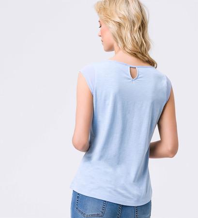 Top mit Keyhole-Design in horizon blue
