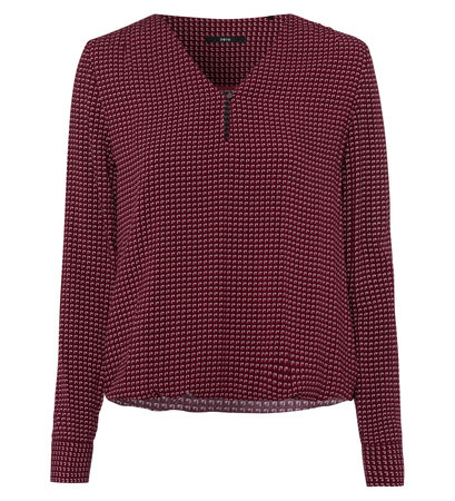 Bluse mit grafischem Muster in grape red