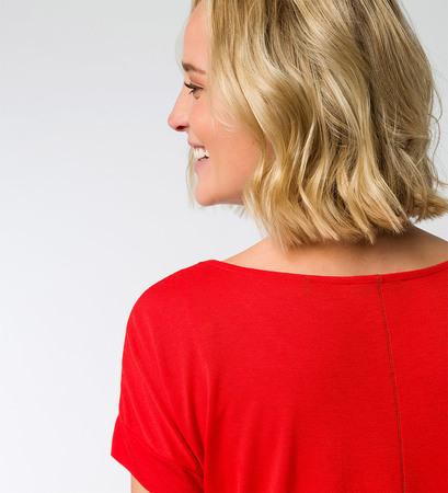 T-Shirt in weicher Jerseyqualität in orange red