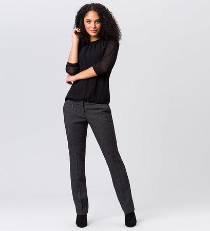 Hose mit Salz-und-Pfeffer-Struktur in black