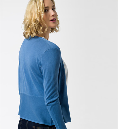 Strickjacke in feiner Qualität in water blue