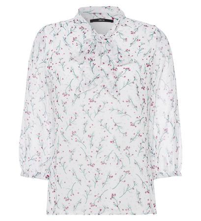Bluse mit Schluppe in offwhite