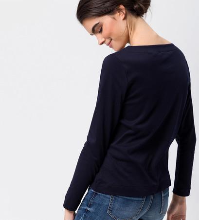 Shirt mit U-Boot-Ausschnitt in blue black