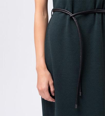 Kleid mit breitem Kragen in dark teal