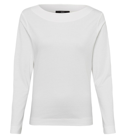 Shirt mit U-Boot-Ausschnitt in offwhite