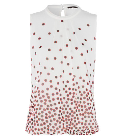 Bluse mit Musterprint in offwhite