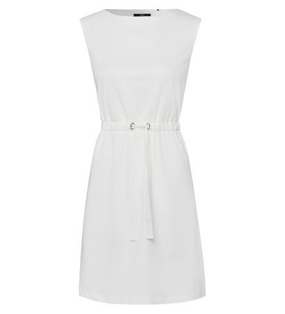 Kleid mit Taillenbund in offwhite