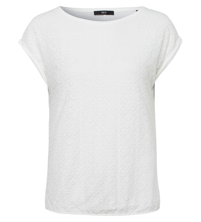Shirt mit Spitzendesign in offwhite