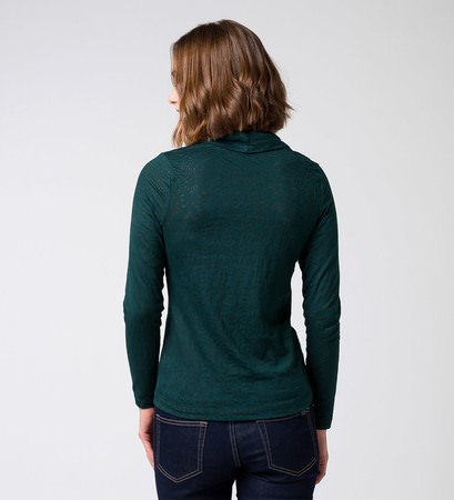 T-Shirt mit Allovermuster in deep green