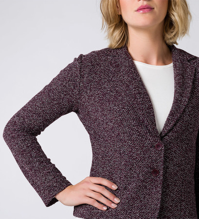 Blazer im Struktur-Look in plum