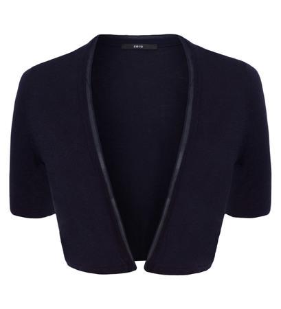 Strickjacke mit doppelter Kante in blue black