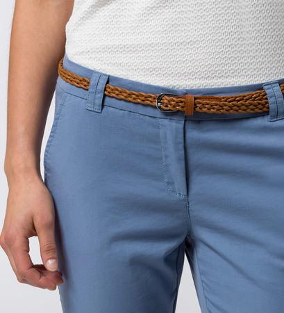 Chino Claire mit Flechtgürtel 32 Inch in dusk blue