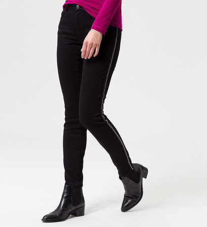 Jeans mit seitlichen Kontraststreifen 30 Inch in black
