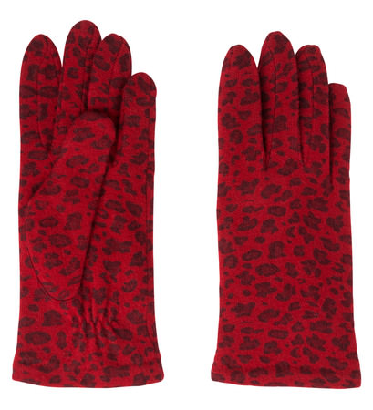 Handschuhe mit Wolle in tango red