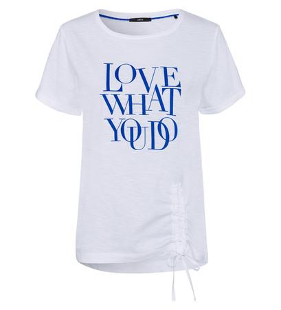 T-Shirt mit Statementprint in cobalt blue