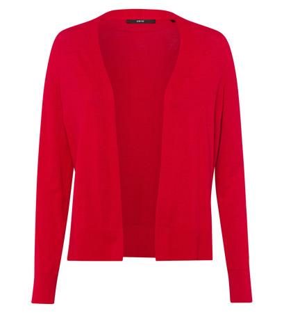 Cardigan in knopflosem Design in fresh red