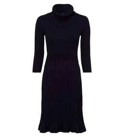 Kleid im Strick-Look in blue black