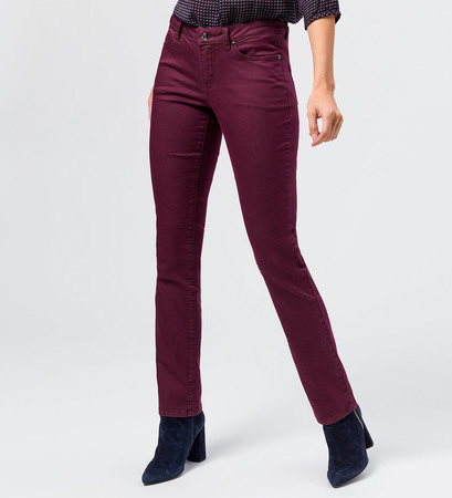 Jeans slim fit 32 Inch in grape red