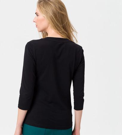 Shirt mit tiefem Ausschnitt in black