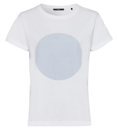 T-Shirt mit Applikation in white